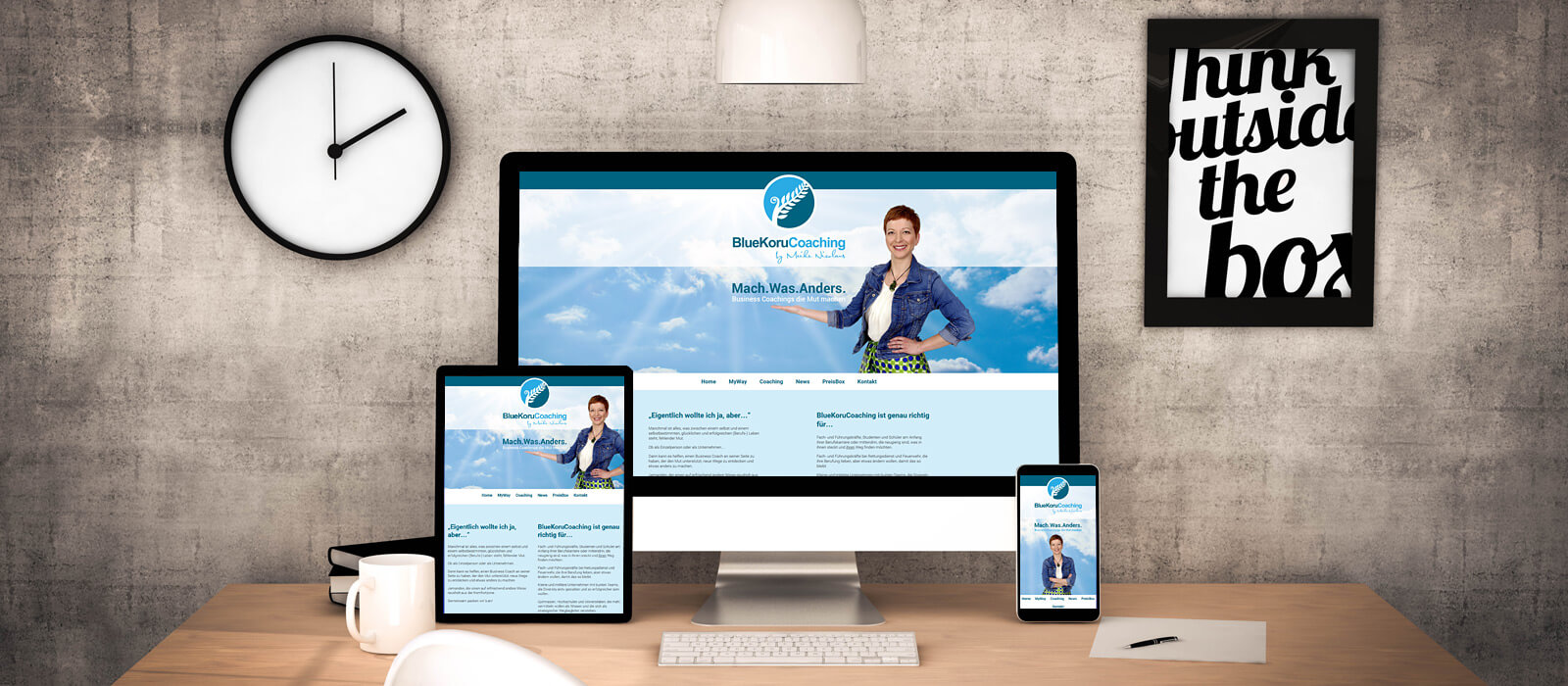 BlueKoruCoaching - Webseite und Webdesign von der Internetagentur LIQUID-ARTWORK in Baden-Baden
